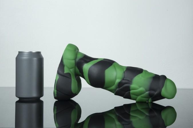 Dračí dildo Weredog Gage Jet/Evergreen Marbled velké