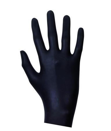Latexové vyšetřovací rukavice černé 100 ks