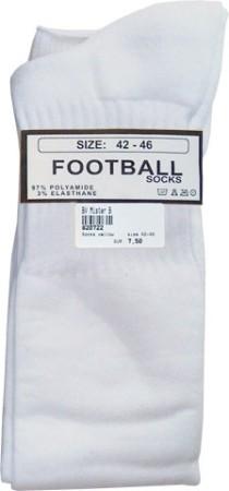 Fotbalové ponožky Mister B bílé