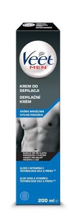 Depilační krém Veet Men Silk & Fresh pro citlivou pokožku 200 ml